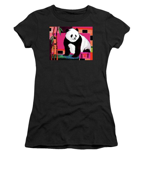 Panda Abstrack Color Vision  Women's T-Shirt (Athletic Fit)
