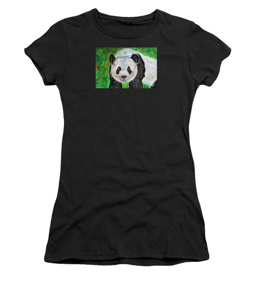 Panda Women's T-Shirt (Athletic Fit)
