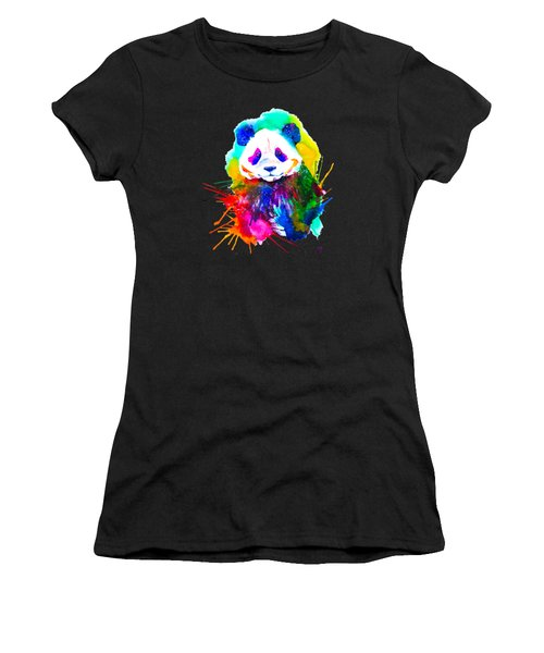 Panda Splash Women's T-Shirt (Athletic Fit)