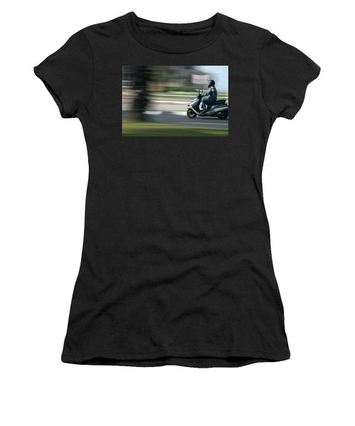 Panning At Tel Aviv Women's T-Shirt (Athletic Fit)