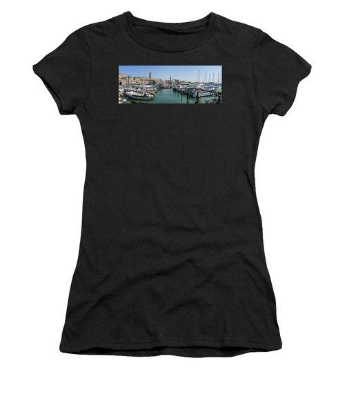 Panorama In Acre Harbor Women's T-Shirt