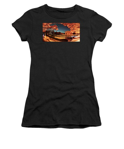 Panorama Of A Starry Night Over The Frio River - Garners State Park - Texas Hill Country Women's T-Shirt