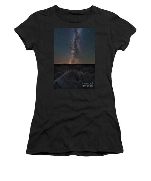Panorama Point Milky Way Badlands  Women's T-Shirt