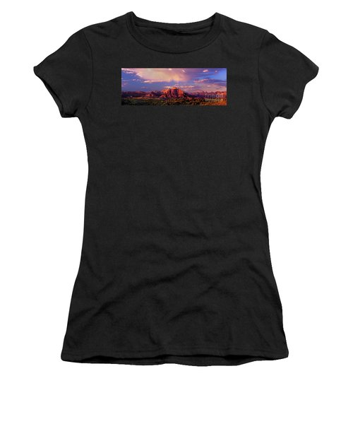 Panorama West Temple At Sunset Zion Natonal Park Women's T-Shirt