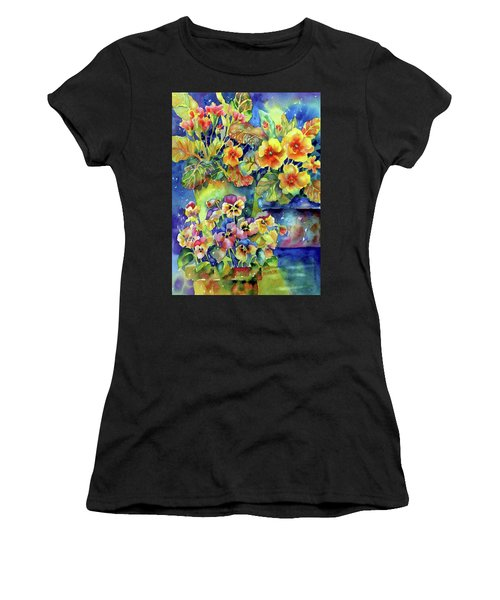 Pansies And Primroses Women's T-Shirt (Athletic Fit)
