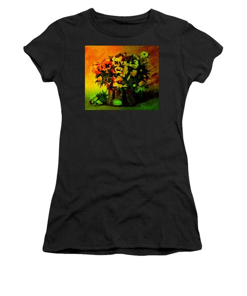Pansies In The Vase Women's T-Shirt (Athletic Fit)