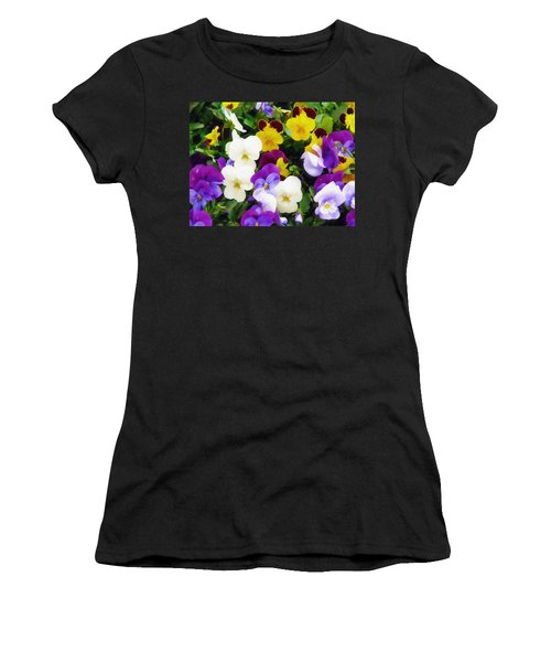 Pansies Women's T-Shirt (Junior Cut)