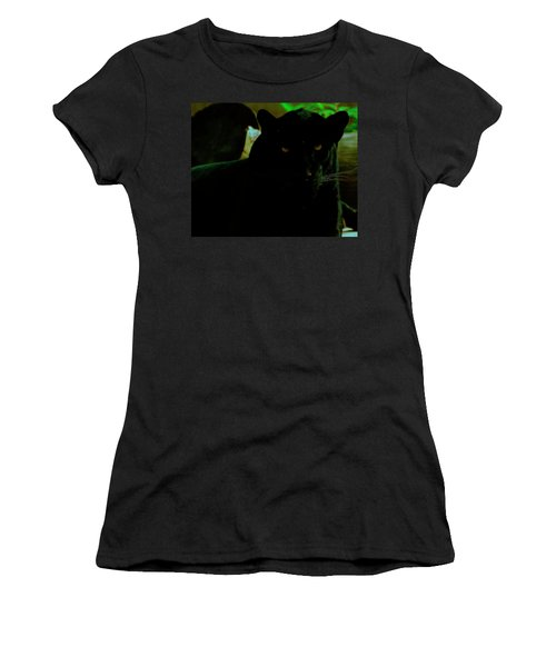 Women's T-Shirt (Athletic Fit) featuring the photograph Panther by Chris Flees