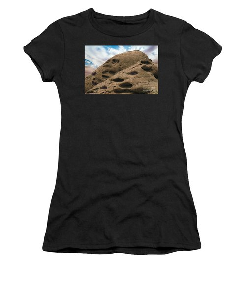 Women's T-Shirt (Junior Cut) featuring the photograph Papago Buttes by Anne Rodkin