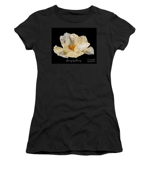 Paper Peony Loving By Giving Women's T-Shirt (Junior Cut) by Diane E Berry