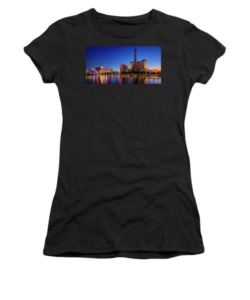 Paris Casino At Dawn 2 To 1 Ratio Women's T-Shirt (Athletic Fit)