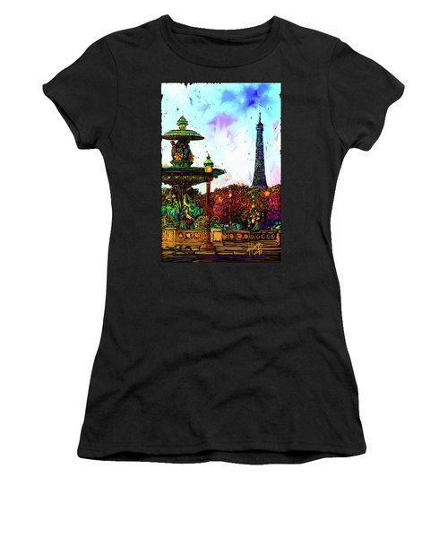 Paris Women's T-Shirt (Athletic Fit)
