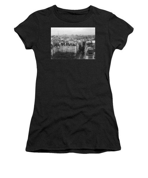 Paris In The Rain  Women's T-Shirt