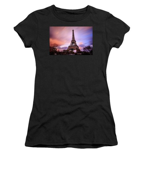 Women's T-Shirt (Junior Cut) featuring the photograph Paris Pastels by Jennifer Casey