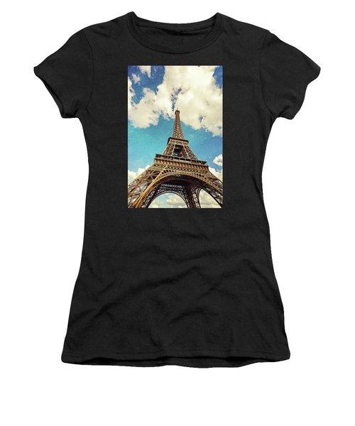 Paris Photography - Eiffel Tower Women's T-Shirt (Athletic Fit)
