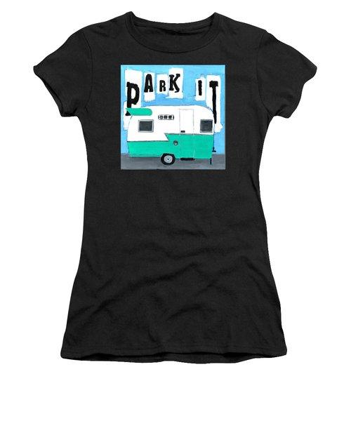 Park It-aqua Women's T-Shirt (Athletic Fit)