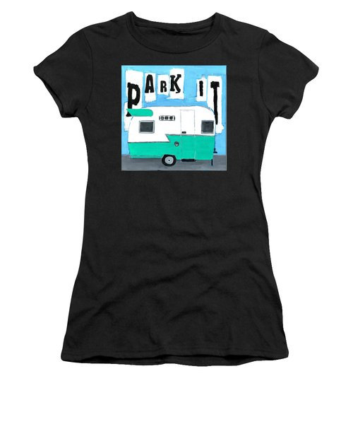 Park It-aqua Women's T-Shirt (Athletic Fit)