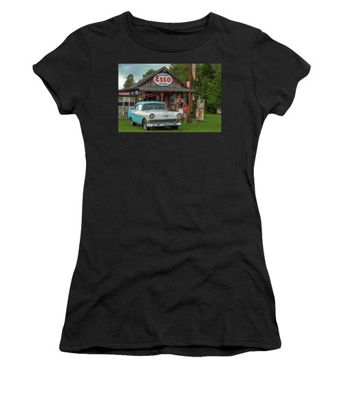 Parked At Ferland Motor Company Women's T-Shirt