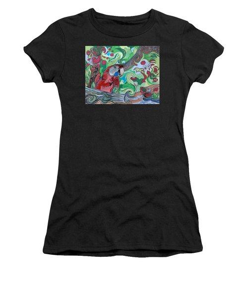 Parrot Kaleidoscope  Women's T-Shirt (Athletic Fit)