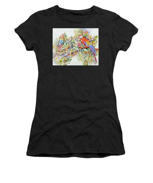 Parrots In Paradise Women's T-Shirt