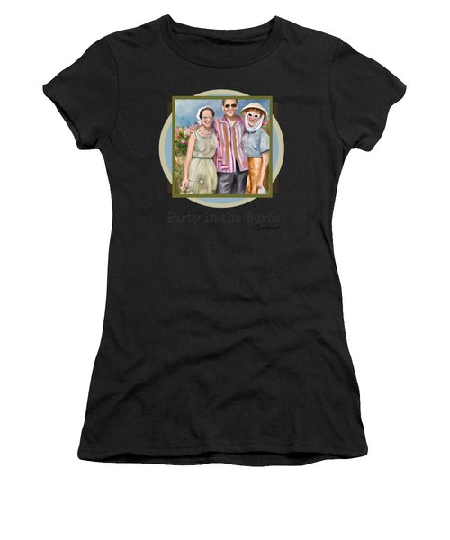 Party In The Burbs Women's T-Shirt (Athletic Fit)