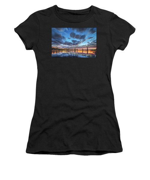 Passing Clouds Above Chattanooga Women's T-Shirt (Athletic Fit)