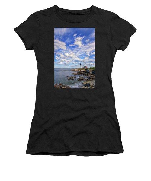 Passing Clouds At Portland Head Light Women's T-Shirt