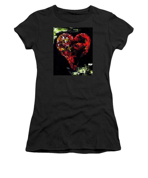 Women's T-Shirt (Junior Cut) featuring the painting Passion by Hiroko Sakai