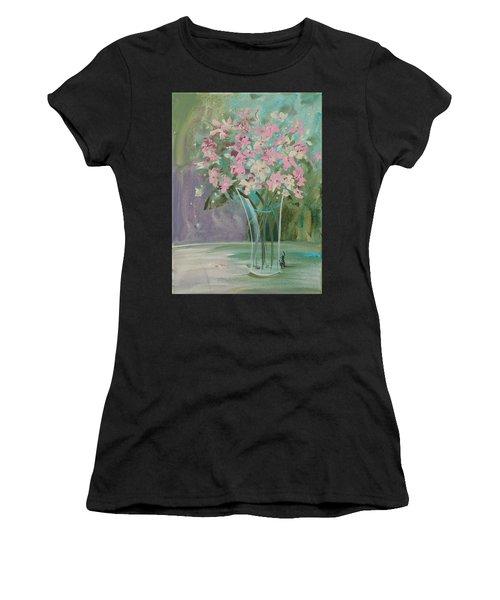 Pastel Blooms Women's T-Shirt (Athletic Fit)