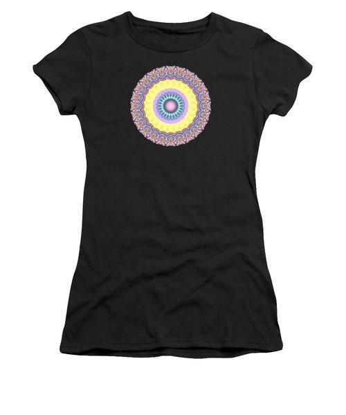 Pastel Peacock Fractal Flower Women's T-Shirt