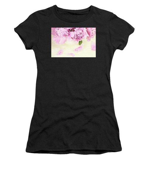 Pastel Pink Peonies  Women's T-Shirt