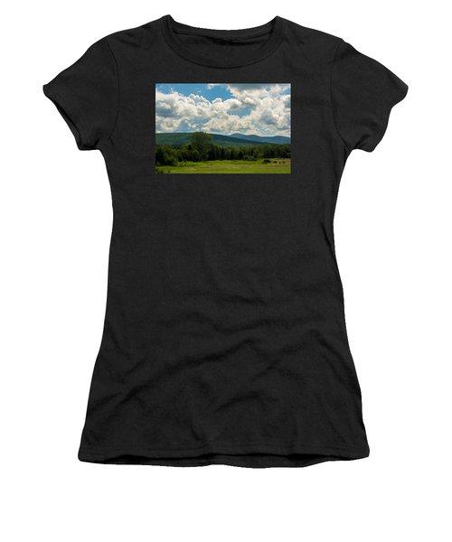 Pastoral Landscape With Mountains Women's T-Shirt