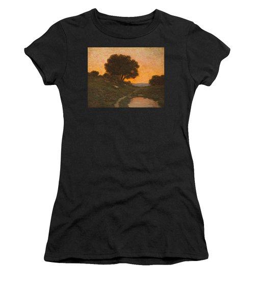 Pastoral Scene At Sunset  Women's T-Shirt