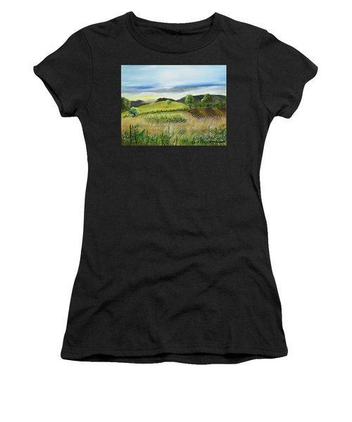 Pasture Love At Chateau Meichtry - Ellijay Ga Women's T-Shirt