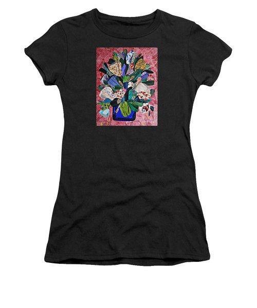 Patchwork Bouquet Women's T-Shirt (Athletic Fit)