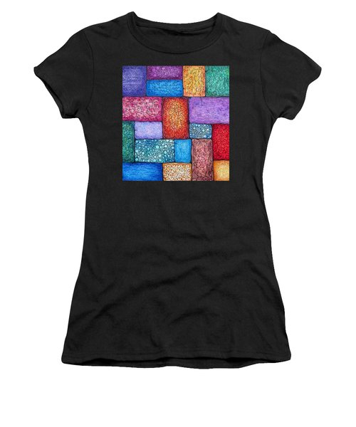 Patchwork Women's T-Shirt (Athletic Fit)