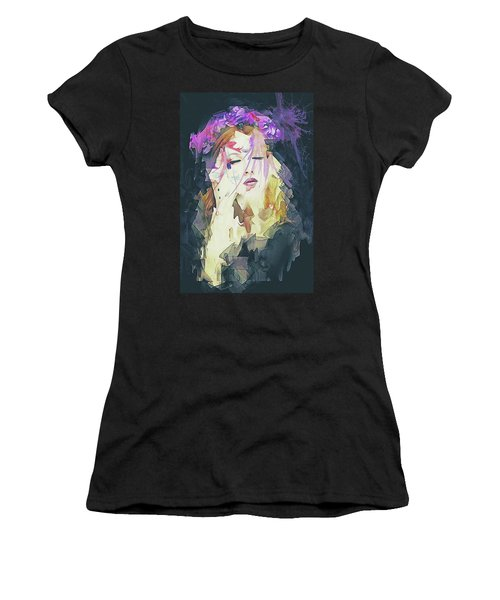 Path Abstract Portrait Women's T-Shirt (Athletic Fit)