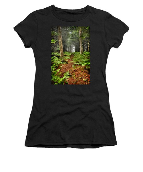 Path In The Ferns Women's T-Shirt (Athletic Fit)