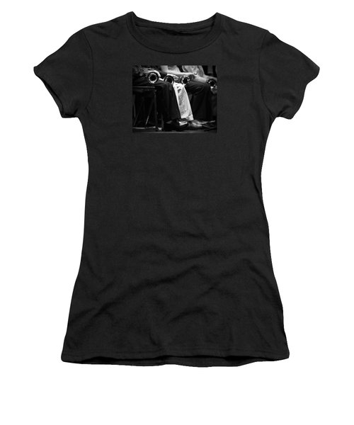 Women's T-Shirt (Junior Cut) featuring the photograph Patiently Waiting... by Trish Mistric