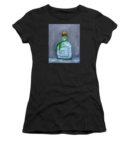 Patron Silver Tequila Bottle Man Cave  Women's T-Shirt (Athletic Fit)