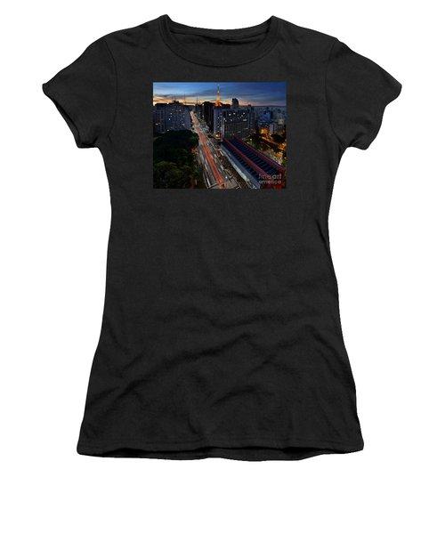 Paulista Avenue And Masp At Dusk - Sao Paulo - Brazil Women's T-Shirt