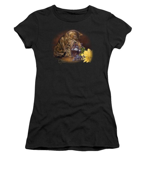 Paw In The Vase Women's T-Shirt (Athletic Fit)