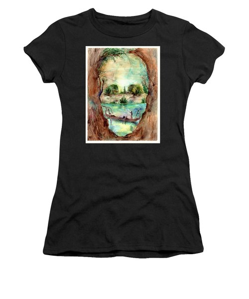 Paysage With A Boat Women's T-Shirt