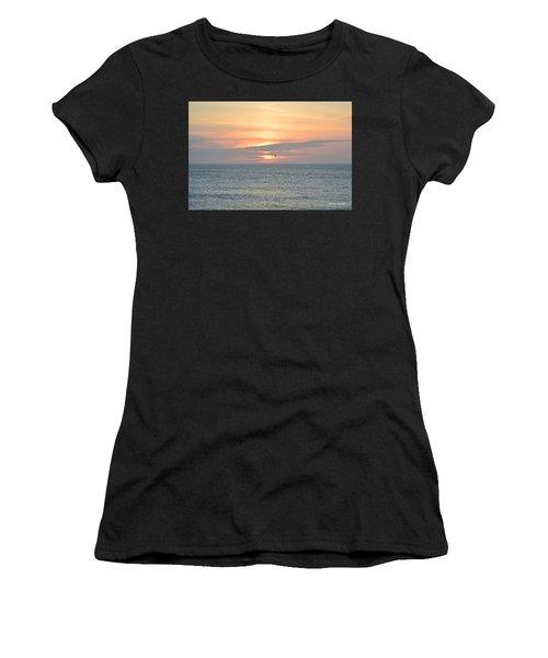 Women's T-Shirt featuring the photograph Pea Island Sunrise by Barbara Ann Bell