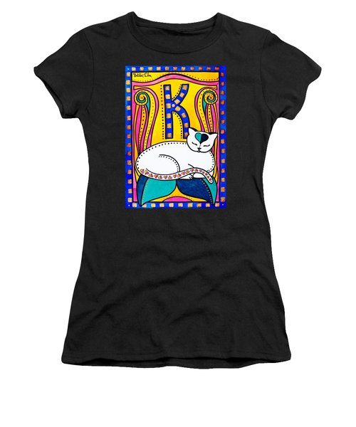 Peace And Love - Cat Art By Dora Hathazi Mendes Women's T-Shirt (Athletic Fit)