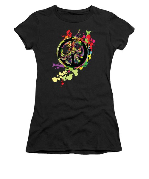 Peace And Peace Women's T-Shirt (Junior Cut) by Cindy Shim