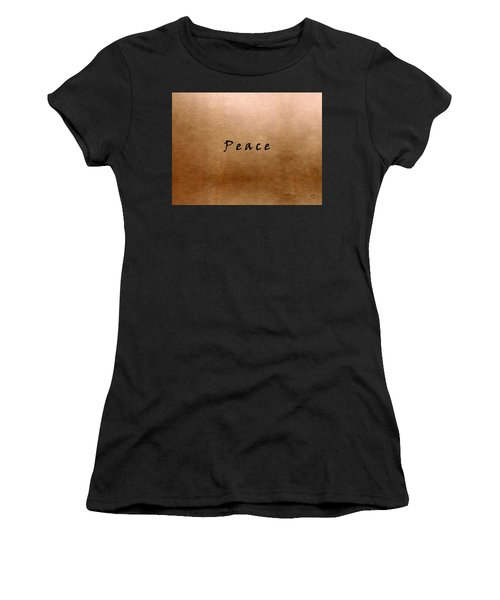 Women's T-Shirt featuring the painting Peace by Marian Palucci-Lonzetta