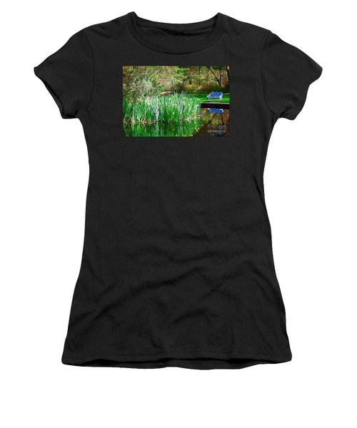 Women's T-Shirt (Junior Cut) featuring the photograph Peaceful by Donna Bentley