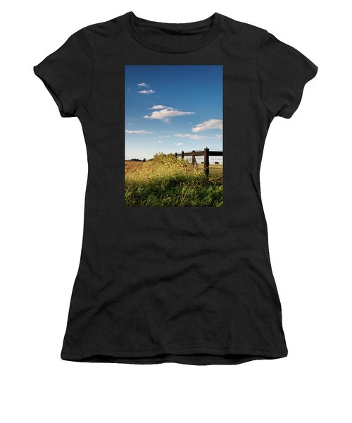 Peaceful Grazing Women's T-Shirt (Junior Cut) by David Sutton