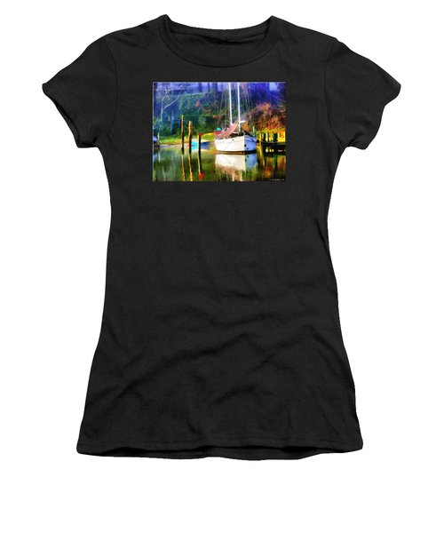 Women's T-Shirt (Junior Cut) featuring the photograph Peaceful Morning In The Cove by Brian Wallace